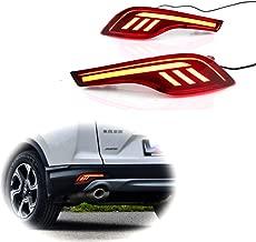 PGONE Red LED Rear Bumper Reflectors Fog Brake Tail Light Lamps Kit for 2017 2018 2019 Honda CRV CR-V Accessories