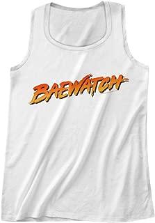 American Classics Baywatch 90's Drama Beach Patrol Lifeguard Baewatch Logo Adult Tank Top Tee