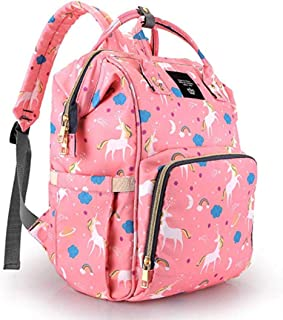 Purple Crane Premium Waterproof 25 L New and Fashionable Unicorn Design Diaper Bag for Mothers and Baby for Travel - Stylish Tote & Bagpack - Peach