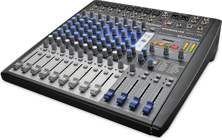 Mixer ibrido 12 ch con connessioni analogiche/digitali, interfaccia usb 2 a 24bit/96 khz SLMAR12