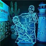 Lámpara de ilusión óptica LED 3DNishinotani Wada Naka USB 7 colores Sensor táctil Niño Niños Regalo Lámpara de mesa Decoración de escritorio-16 color remote control