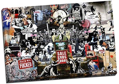 Banksy Collage Montage Collection - Lienzo decorativo para...