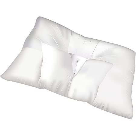 """Traction Pillows for Sleeping with Pillow Covers - King, Queen, Travel Bed Size Pillows, Side and Back Sleeper with Zip Protectors, Cervical Traction (Medium: 24"""" x 17"""")"""