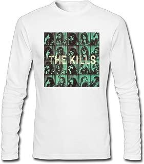Hefeihe DIY The Kills Midnight Boom Men's Long-Sleeve Fashion Casual Cotton T-Shirt