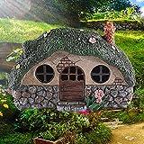 Feenhaus 20cm Gartendeko Handarbeit Ornament Solar Led Gartenfigur Für Außen Für Ihren Feengarten Led Solarleuchte Solar Gartenbeleuchtung Für Garten Garten Deko
