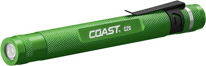 COAST G20 Inspection Beam Penlight LED Flashlight, Green