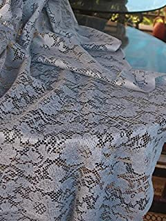 AK-Trading Floral Lace Crochet Tablecloth Overlay Table Cover (54-Inch Square, Pewter Grey)