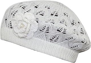 MINAKOLIFE Womens Super Soft Flower Laciness Knit Beanie Hat