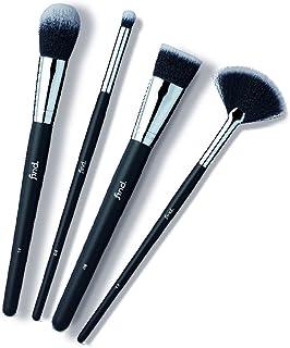 FIND - Kit esencial - Pincel para sombras para base de maquillaje para colorete y pincel abanico para iluminar (4 pincel...