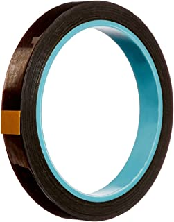 3M 1218 Amber Polyimide Film Tape with Acrylic Adhesive, 36 yd Length, 1.89