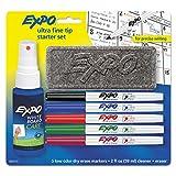 Expo 1884310 Low-Odor Dry-Erase Marker Starter Set, Ultra Fine, Assorted, 5/Set