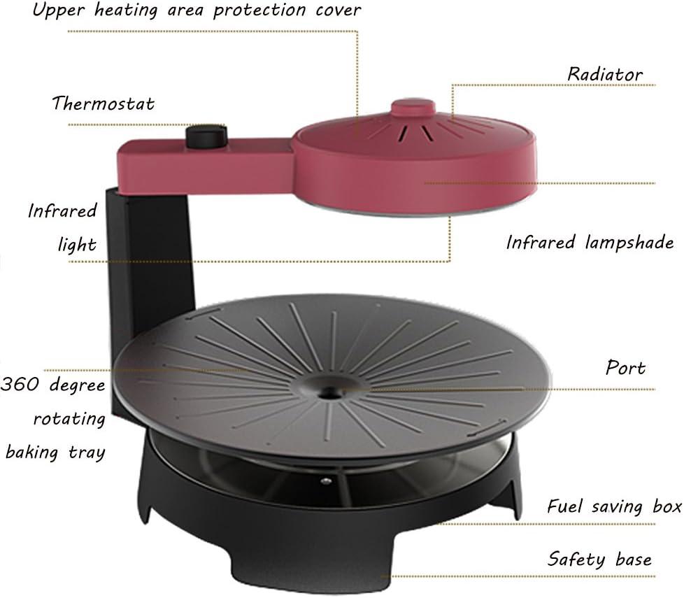QFFL diankaolu Machine de Barbecue de Gril de ménage de Gril sans fumée de Chauffage de BBQ d'air 380 * 300mm (Couleur : A) A