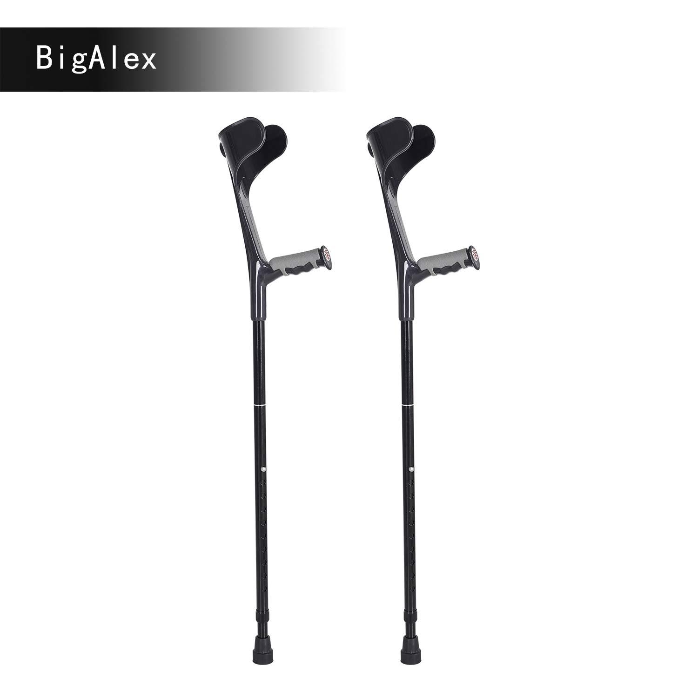 BigAlex Forearm Crutches Pair Lightweight