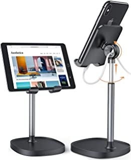 Tablet Stand Holder Phone Stand, Adjustable Tablet Stand Phone Holder for Desk,[Stable Base] iPad Stand Compatible With iP...