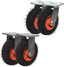 Zwenkwielen (4 stuks) 6 inch opblaasbaar rubberen wiel Directionele wiel stille opblaasbare aanhanger wiel kar wiel opblaa...