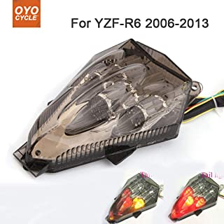 OyOCycle LED Tail Light for Yamaha YZF-R6 2006-2013 Integrated Motorcycle YZF-R6 Turn Signal Light Tail Stop Brake Warning Lamp