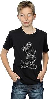 Disney Niños Mickey Mouse Sketch Kick Camiseta