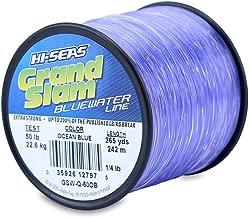 HI-SEAS Men's Grand Slam Bluewater Line Test 50 lb (22.6 kg) .028 in (0.70 mm) Diam, Ocean Blue, 265 yd (242 m)