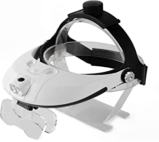 JKSH Head-Mounted Glasses Magnifying Glass Binocular Surgery Microscopic High-Definition Repair Carving Old Man