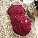 RTEAQ Ropa Mascotas Suéter para Perros Ropa de Perro Salchicha Suéteres de Punto Jerseys Ropa para Mascotas Grandes Abrigos de Punto para Perros Ropa de suéter para Cachorros