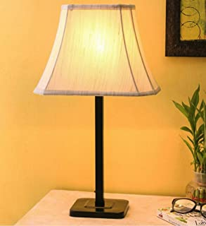 tu casa Off White Cotton Shade Table lamp with Metal Base Holder Type b-22 (Ntu-23)(Bulb not Included)