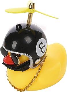 lefeindgdi Pequeño pato amarillo decoración de coche, cortavientos patito con casco, accesorios de coche, juguete de pato ...