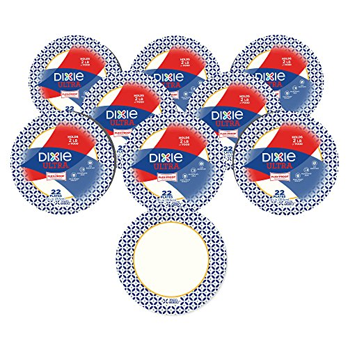 Dixie Ultra Disposable Paper Plates, 10-1/16 in. Dinner Size, Printed, 176 Count