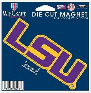 WinCraft NCAA Louisiana State University 12252115 Die Cut Magnet, Small, Black