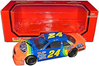AUTOGRAPHED 1993 Jeff Gordon #24 DuPont Rainbow Warrior Racing ROOKIE SEASON (Rookie of the Year) Extremely Rare Racing Champions Signed 1/24 NASCAR Diecast Car with COA