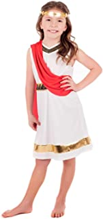 Kids Greek Goddess Costume Childrens Historical Roman Empress Outfit