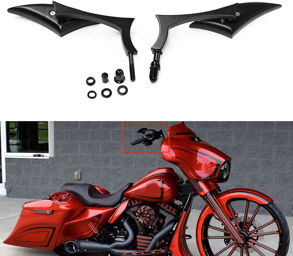 We OFFer Excellent at cheap prices Motorcycle Black Blade Rear View for Mirrors Harley Bobb Cruiser