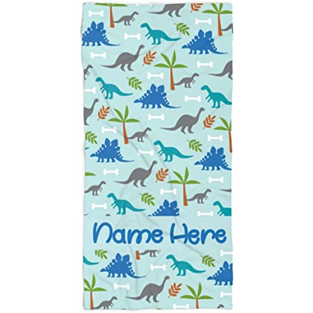 """Kaufman Personalized Beach Towels for Kids,30/""""x 60/"""" Embroidered Name."""