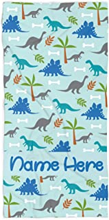 Personalized Dinosaur Towel for Kids - Custom Travel Beach Pool and Bath Towels for Adults Toddler Baby Boys Girls (Bath Towel 30