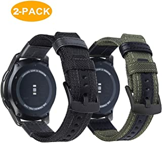 OTOPO Compatible Galaxy Watch 46mm Band/Gear S3 Frontier Bands - 2 Pack 22mm Breathable Nylon Sport Replacement Wrist Straps for Samsung Galaxy Watch 46mm / Gear S3 Frontier / S3 Classic Smartwatch