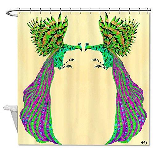 rioengnakg Schimmelresistent Stoff Colorful Pfauen Duschvorhang Polyester Duschvorhang wasserdicht, Polyester, #1, 66