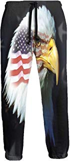 Flag Patriotic Eagle Jogger Pants Quick Dry Sweatpants with Elastic Waist Casual Pants for Men