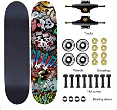 """Easy to Navigate Skateboard Balance Board Skateboard Complete Brush Street Gravure, Design Selection Single-Sided Print, 31"""", ILQ-9 Bearing Adopted for Beginners Adults/Youth"""