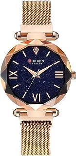 Women Starry Sky Watch Magnetic Buckle Bracelet Watch Diamond Dress Wristwatch Mesh Band