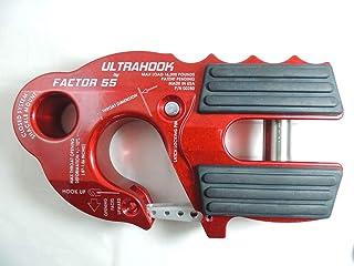 Factor 55 00250-01 UltraHook Winch Hook W/Shackle Mount Red