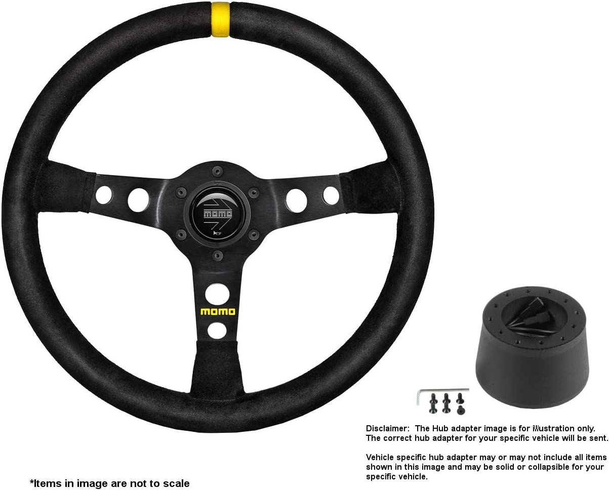 MOMO MOD.07 350mm Genuine 13.78 Inches Steering Brushed Max 84% OFF w Wheel Suede