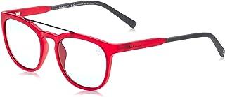 نظارات شمسية للرجال من تيمبرلاند TB918167D53 - احمر غير لامع/ رمادية داكنة مستقطبة - الاطار مصنوع بالحقن