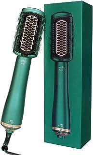 Cepillo para secador de pelo, Cepillo eléctrico alisador de pelo con cuidado de iones negativos, 3 Temperaturas,Cepillo de aire caliente con función de secado y plancha
