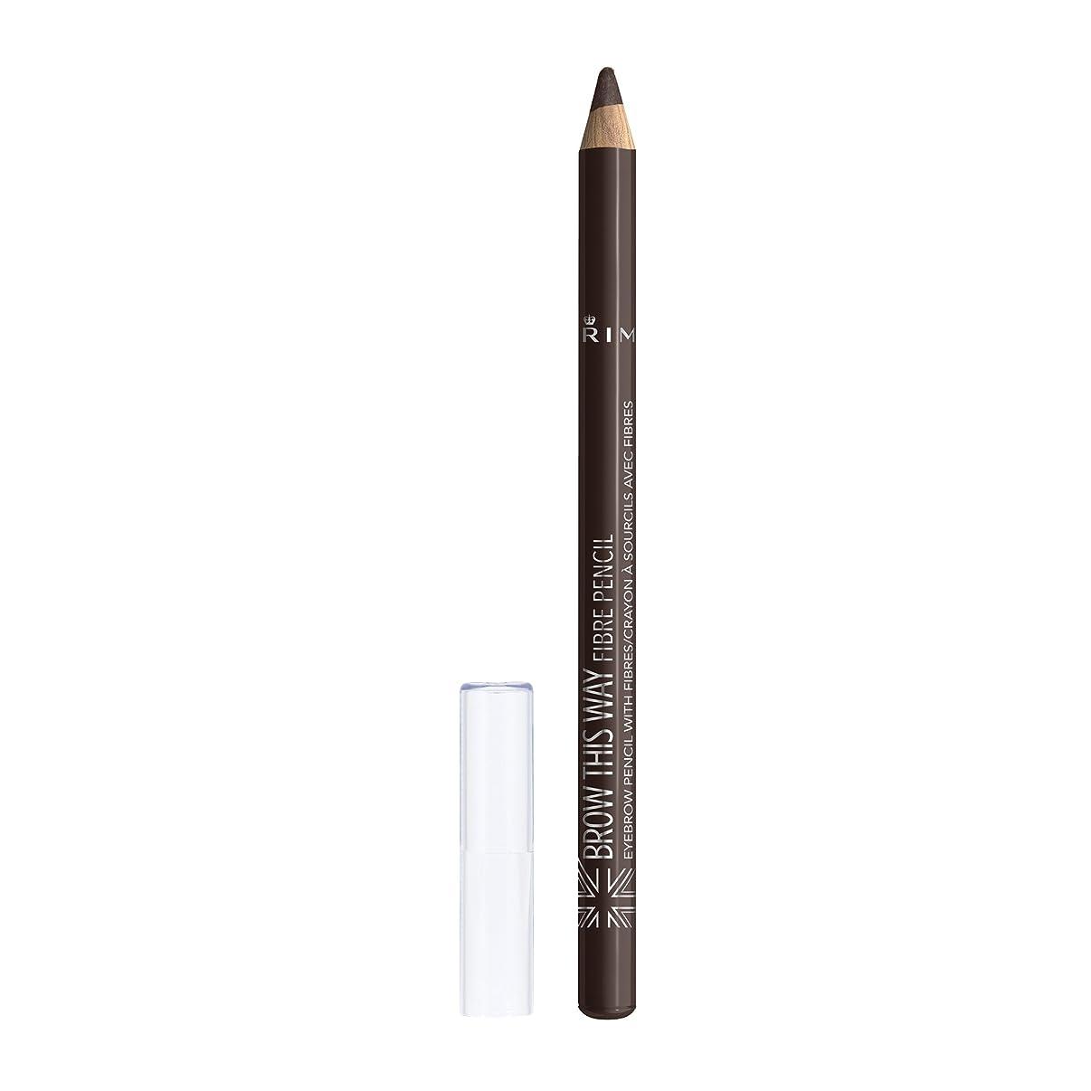 ラベ階下モーターRIMMEL LONDON Brow This Way Fibre Pencil - Dark Brown (並行輸入品)