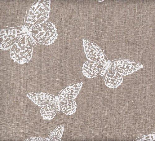 Tela de lino - Las Mariposas Blancas (tela natural) - 100% lino suave | ancho: 140cm (1 metro)