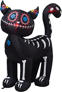 VENLOIS 4 Feet Tall Halloween Inflatable Black Cat LED Lights Decor Outdoor Indoor Holiday Decorations,Blow up Lighted Yar...