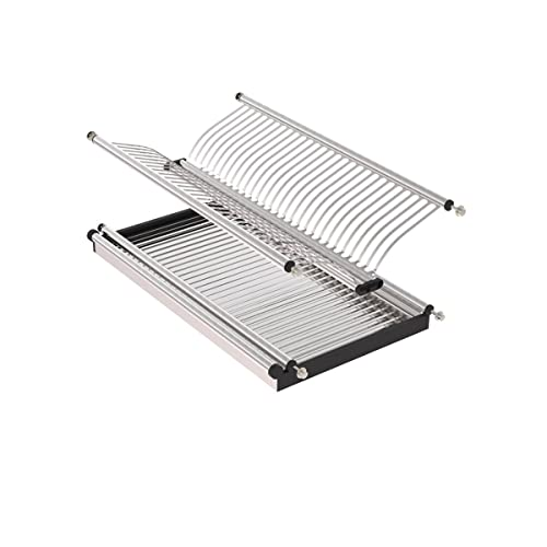 VADANIA 2 Tier Stainless Steel Dish Drying Rack, Dish Drainer U0026 Plate  Holder,