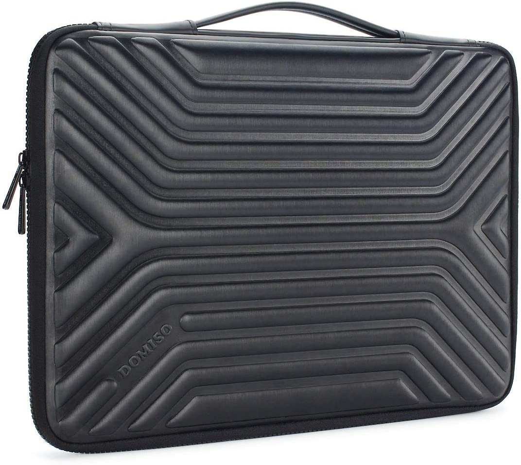 """DOMISO 15.6 Inch Shockproof Waterproof Laptop Sleeve with Handle Lightweight Soft EVA Tablet Case for 15.6"""" Laptops / Apple / Lenovo IdeaPad / Acer Aspire E15 / HP Envy 15 / Dell , Black"""