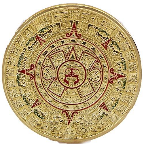 AmaMary Monedas conmemorativas mayas, Calendario Maya Mexicano Colección Conmemorativa de Monedas chapadas en Oro (1 Pieza de Oro)