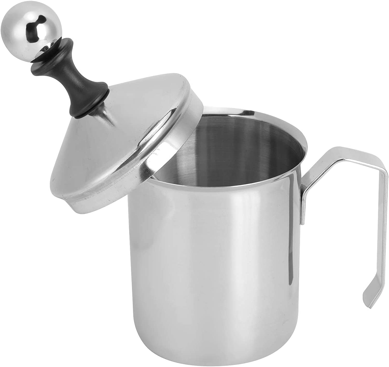 Super beauty product restock quality top! Manual Denver Mall Drink Mixer 304 Stainless Steel Frother 400cc Milk