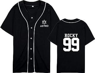 mainlead Kpop Astro Baseball Jersey Short Sleeve Sport T-Shirt Sanha Rocky Moonbin Shirt